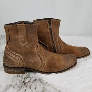 Men's Bed Stu brown suede leather zip boots sz 11